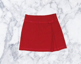 NOS 90's Red Pleated Skirt : Size 10