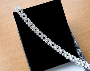 Bridal jewelry Crystal Wedding bracelet Bridal bracelet Wedding jewelry for the bride bracelet gift cubic zirconia Mother of bride gift jm1