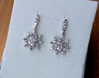 Bridal jewelry Wedding earrings Crystal Bridal earrings crystal Wedding jewelry vintage wedding diamond earrings art Bohemian earrings jm