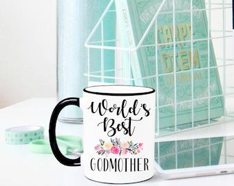 World's Best Godmother Mug, Godmother Mug, Fairy Godmother Mug, Gift for Godmother, Godparents, Godmother, Fairy Godmother, Best Godmother