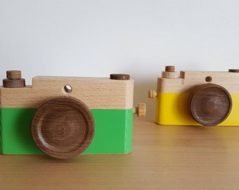 Colorful wooden - man toy camera