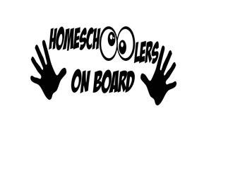 Homeschoolers on Board -homeschool vehicle window decal