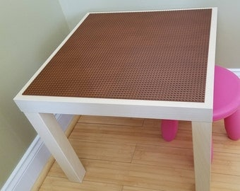 Birch Finish Lego Table/Brick Building Table with Chair