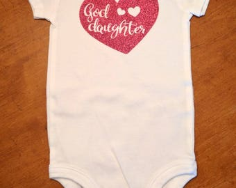 Goddaughter Heart Design - Goddaughter Shirt - Goddaughter Gift - Godmother Gift - Godmother Goddaughter