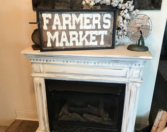 Farmer's market sign / farmhouse wall decor / kitchen sign / market sign / rustic sign / distresed sign / country sign