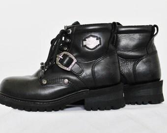 Size US 7.5 - Vintage Harley Davidson Boots