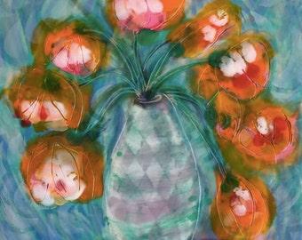 Orange Blossoms Falling