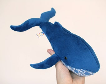 Handmade soft toy whale, plushie, softie, baby toy, toddler toy, handmade gift, home decoration, baby shower gift, baby gift, plush toy
