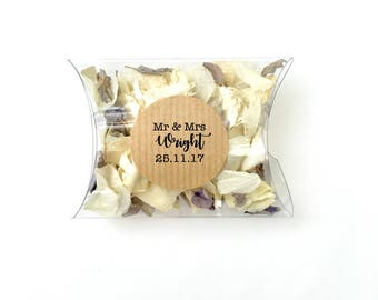 10 Personalised Confetti Pockets   Slow Fall Confetti Pouches/Envelope   Real Petal, Biodegradable, Throwing Wedding Confetti Petals