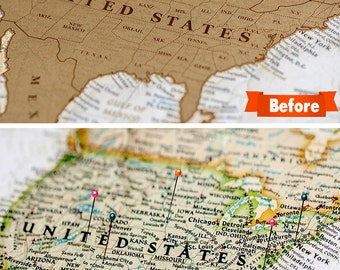 Usa Scratch Off Map Etsy - Scratch off us map