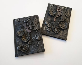 Notebook, mixed media journal, mini journal, planner