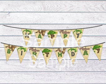 Reptile Birthday Banner, Reptile Banner, Banner, Reptile Party Decorations, INSTANT DOWNLOAD, Reptile