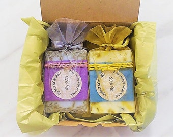 Soap gift set box - Duo - Lavender and Tea