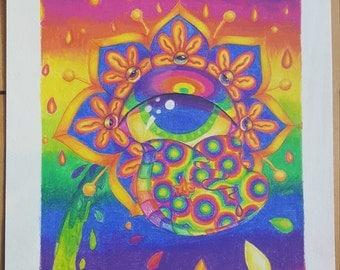 Eye Flower in Acid Rain