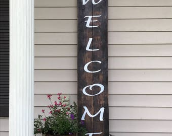 Welcome sign,Wood Sign, Large Front Porch Sign, Large Welcome Sign, Rustic sign,Distressed Sign,Wood Signs, Weddings, HouseWarming,Birthdays