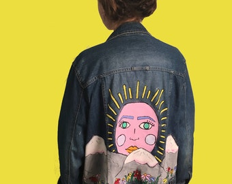 Mythical Face Hand Painted Jacket