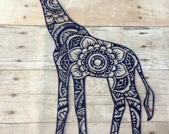 Giraffe Mandala Vinyl Decal for Yeti, Phone, Laptop & More, Custom Design - You Choose Pattern + Color