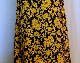 Gold Brocade Vintage Dress