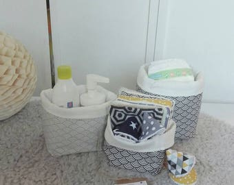 Set of 3 baskets for table dressing - Pocket storage or storage basket - baby accessory
