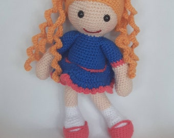 Amigurumi Goldilocks Doll, Crochet Doll, Handmade, Soft toy, kids toy