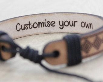 leather bracelet, personalized leather bracelet, customize bracelet, personalized gift, bracelet