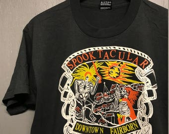 L vintage 90s Halloween Fairborn Ohio t shirt