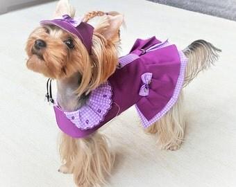 Dog dress XS Girl dog dress Small dog clothing Yorkie clothes Small dog fashion Pet clothes Small pet dog dress Puppy dresses Yorkie dresses