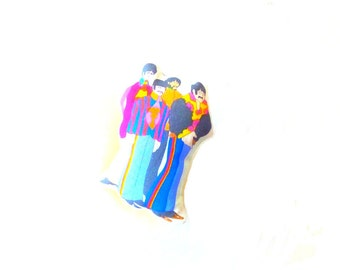"Brooch - ""Yellow Submarine!"" - THE BEATLES - in fabric"