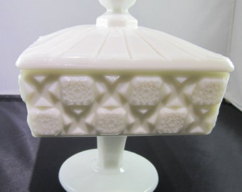 Westmoreland glass Candy/compote Milk glass