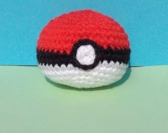 Pokeball crocheted, pokeball, 6cm
