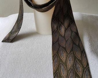 Vintage VALENTINO RUDY Mens Silk Necktie Casual Suit Neck Tie