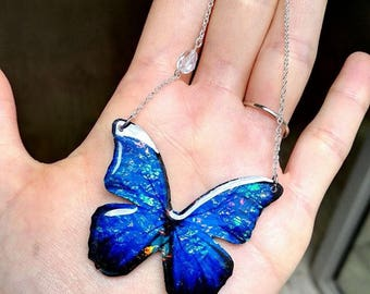 Deep blue transparent fairy jewelry and glass bead