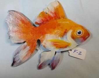 Goldfish ornament, Goldfish gift, Aquarium fish, Carp, Single tailed goldfish, Common goldfish, Comet goldfish, Bristol goldfish ornament