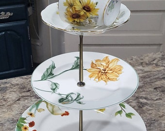 Unique Tea Cup 3-Tiered Stand