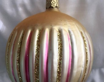 Old-World Gold Christmas Ornament