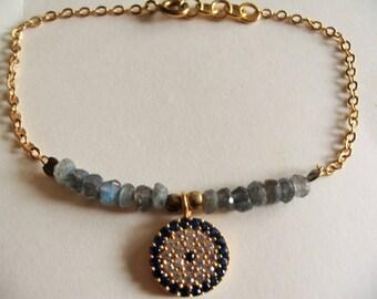 Lucky bracelet labradorite