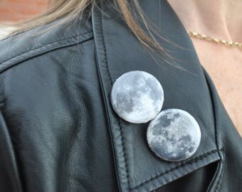 Back To School Cute Moon Badges / Tumblr / Aesthetic / Space / by aestheticbadges