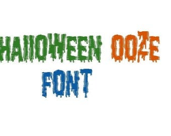Halloween Ooze Font 3 sizes in 10 formats
