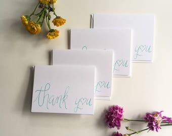 Thank You - A2 Greeting Card Set of 4