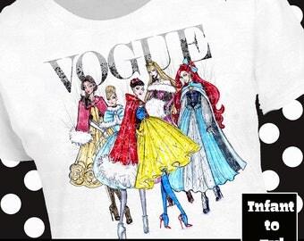 Disney Vogue Shirt, Disney Vogue Tank, Princess Vogue Shirt, Disney Fashion Shirt, Disney Fashion Tank, Snow White Shirt, Ariel Shirt