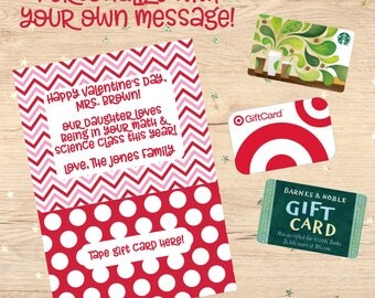 Gift Card Holder Personalized Gift Printable Gift Card