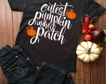 Cutest Pumpkin in the Patch, Halloween, Fall Svg,Dxf,Png,Jpeg
