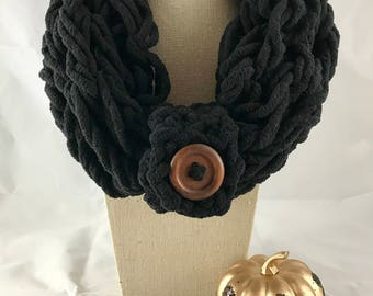 Knitted Cowl Scarf - Cowl Scarf - Knitted Scarf - Gift for Her
