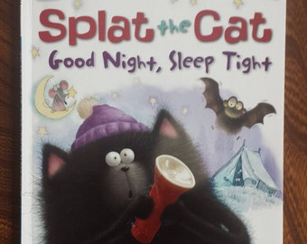 Splat the Cat Good Night, Sleep Tight - Rob Scotton - I Can Read Series - Beginner Readers - Children Books - Kids Books - Story Books