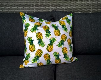 Tropical Pineapple print cushion cover