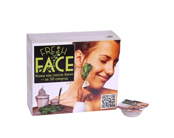 Natural scrub Fresh Face for dry and normal skin (facial scrub for deep cleansing), 72g (24x3g)