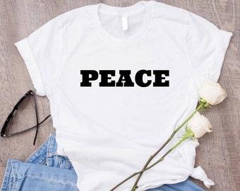PEACE T Shirt Vintage Shirt/ 60s Shirt hippie Shirts/ Tumblr Aesthetic Clothing/ 70s Shirts Retro Shirts/ Tumblr Shirts Aesthetic Shirt