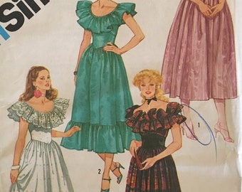 Simplicity 6235 Fitted Evening Dress 1983