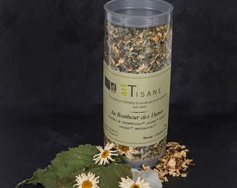 """Organic herbal tea """"to the happiness of the ladies"""" for a moment of pause..."""