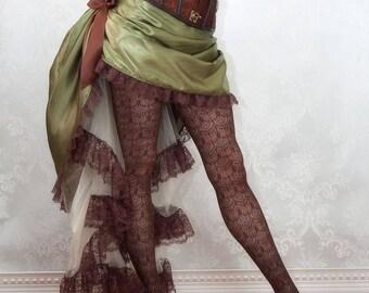Gaslight Romance Steampunk Skirt or Costume - Ready to Ship